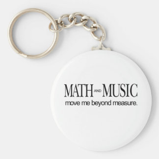 Math and Music _ move me beyond measure Basic Round Button Keychain