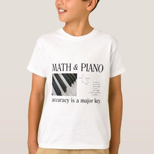 math and piano major key T_Shirt
