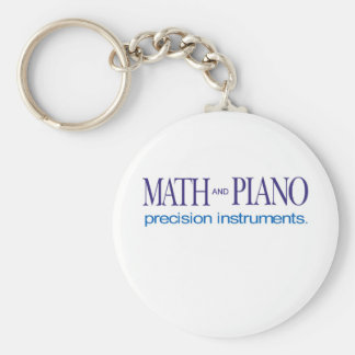Math and Piano _ precision instruments Basic Round Button Keychain
