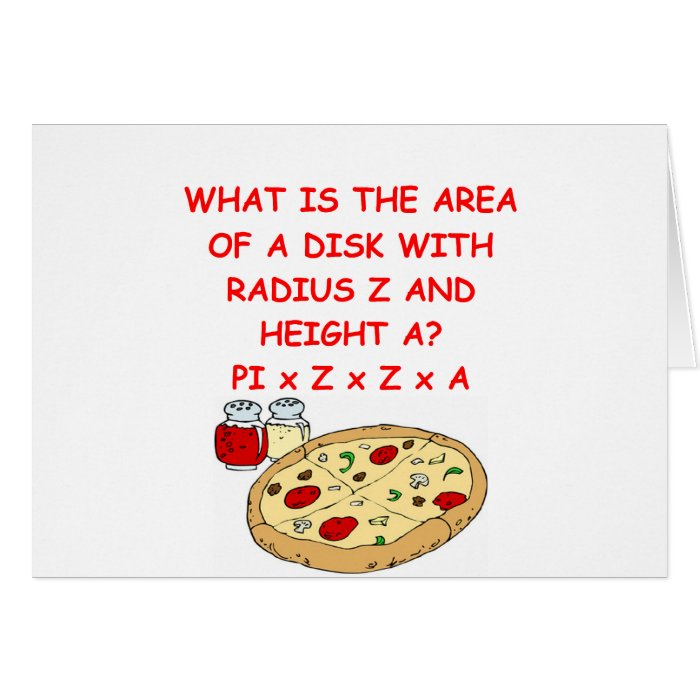 math and pizza card