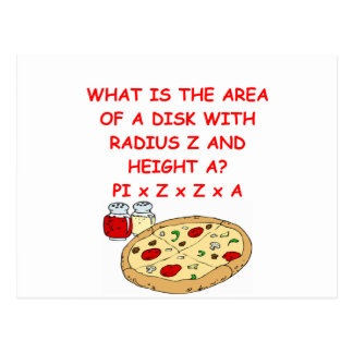 math and pizza postcard