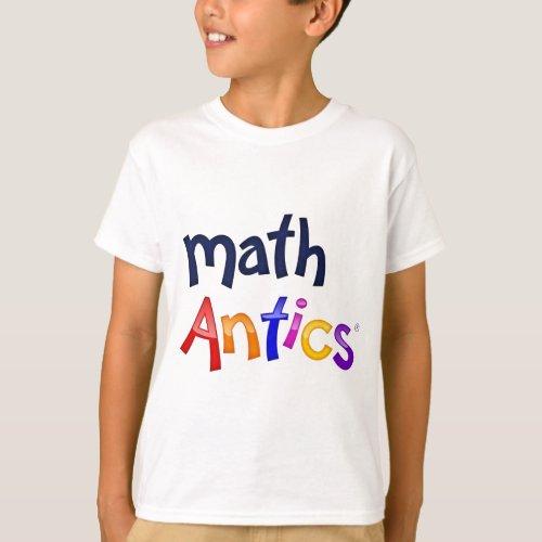 Math Antics Colorful Logo T_shirts