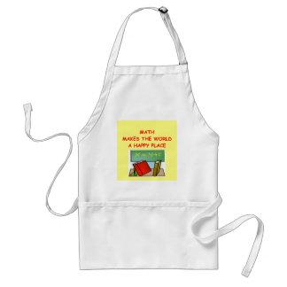 math adult apron
