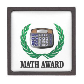 math award calculator keepsake box