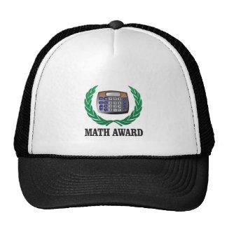 math award calculator trucker hat