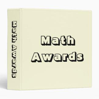 Math Awards Certificates and Memories Binder