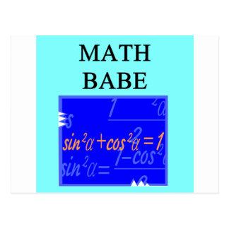 MATH BABE POST CARD