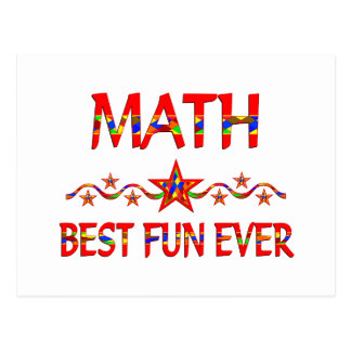 Math Best Fun Postcard