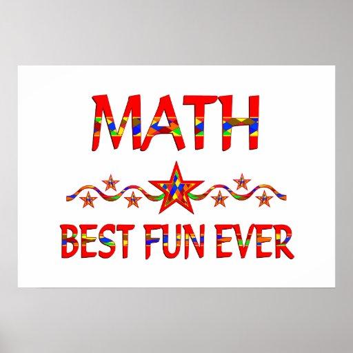 Math Best Fun Poster