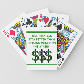 math bicycle playing cards