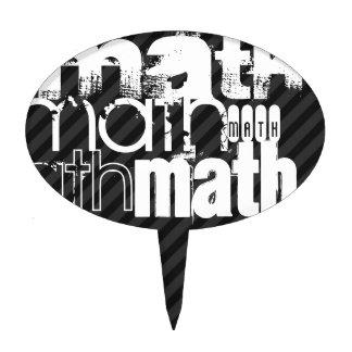 Math; Black & Dark Gray Stripes