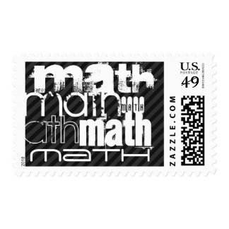 Math; Black & Dark Gray Stripes Postage