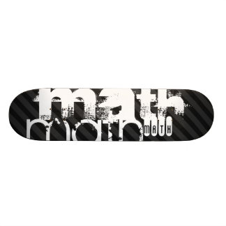 Math; Black & Dark Gray Stripes Skateboard Deck
