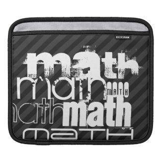 Math; Black & Dark Gray Stripes Sleeve For iPads