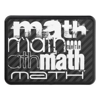 Math; Black & Dark Gray Stripes Tow Hitch Cover