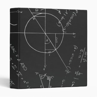 Math blackboard 3 ring binder