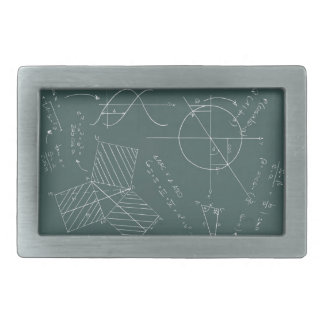 Math blackboard belt buckle