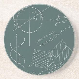 Math blackboard drink coaster
