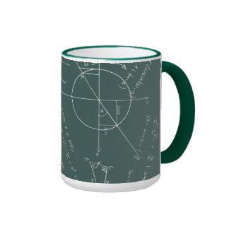 Math blackboard ringer coffee mug