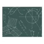 Math blackboard postcards