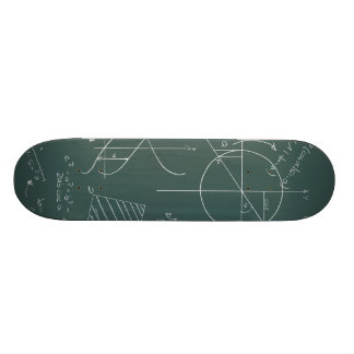 Math blackboard skateboard