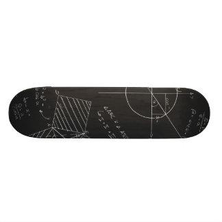 Math blackboard skateboard