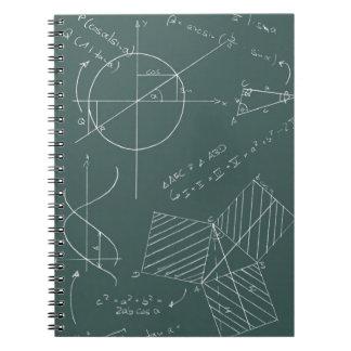 Math blackboard spiral notebook