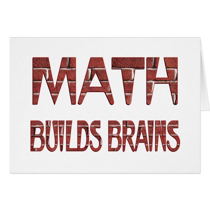 Math Builds Brains Card