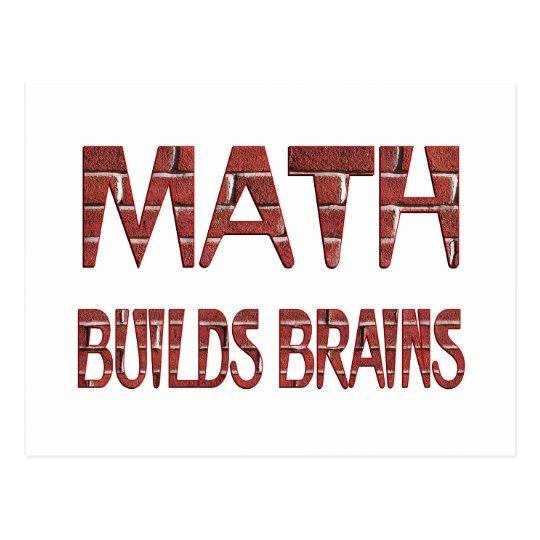 Math Builds Brains Postcard