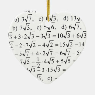 Math Ceramic Ornament