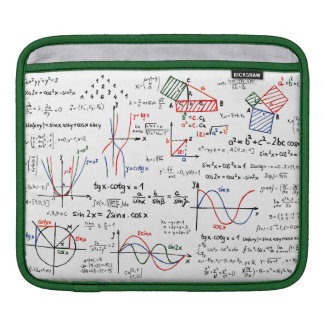 Math Cheat Sheet iPad Sleeve