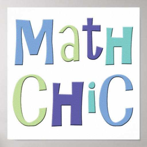 Math Chic Poster