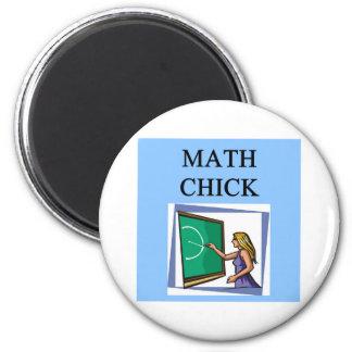 MATH CHICK 2 INCH ROUND MAGNET