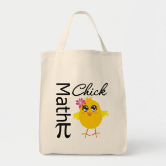 Math Chick Grocery Tote Bag