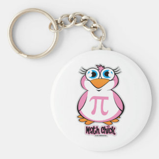 Math Chick Keychain