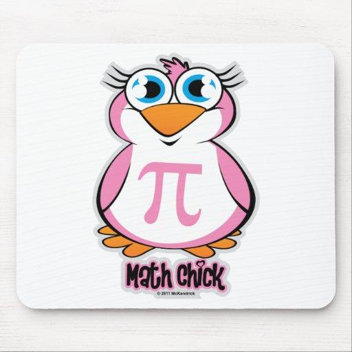 Math Chick Mouse Pads