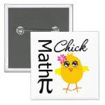 Math Chick Pinback Buttons