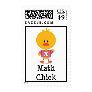 Math Chick Postage Stamps