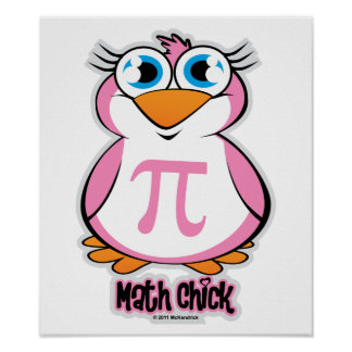 Math Chick Poster