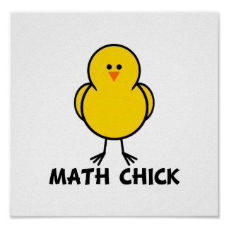 Math Chick Posters