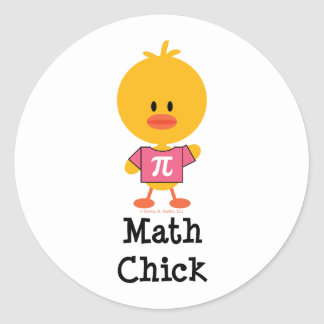 Math Chick Stickers