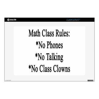 """Math Class Rules No Phones No Talking No Class Clo 15"""" Laptop Skins"""