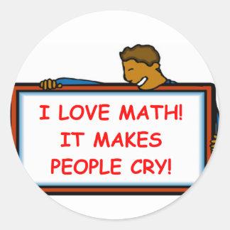 math classic round sticker