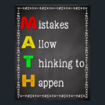 "Math Classroom Poster Teacher Chalkboard Sign<br><div class=""desc"">Great addition to any classroom or school</div>"