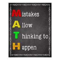Math Classroom Poster Teacher Chalkboard Sign