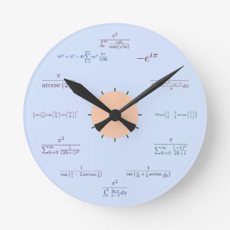 Math Clock (Blue)