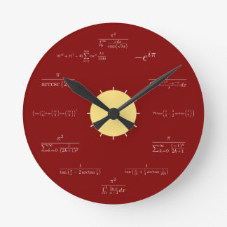 Math clock (red background)