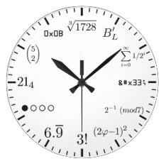 Math Clock V1 at Zazzle