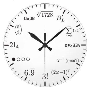 Math Clock V1 by eagleApex at Zazzle