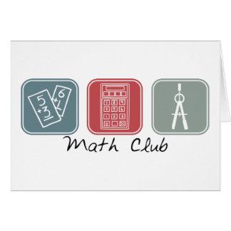 Math Club (Squares) Greeting Card